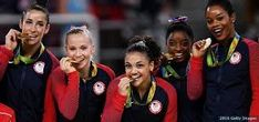 Team USA Woman's Olympic Gymnastics from Amsterdam to Rio's Final Five · Tomorrow's Gems Team Usa Gymnastics, Olympic Gymnastics, Olympic Games Sports, Olympic Medals, Us Olympics, Summer Olympics, Final Five, Laurie Hernandez, Simone Biles
