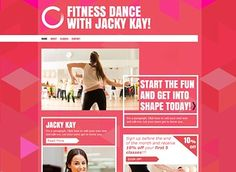 Dance Instructor Template - Warm up your visitors with this energetic and vibrant website template. The bold colors and dynamic graphics make this the perfect eye-catching template for anyone wishing to attract and engage new followers. Simply edit the text and add your own photos for a customized look and create a website that's as lively as you are today!