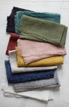 Linen napkins that button-on to a button-down top!