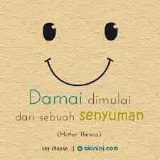 Smile can give peace