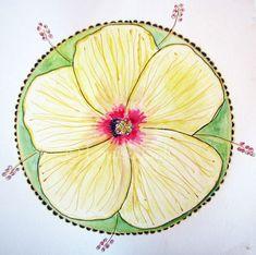 louise gale hibiscus mandala