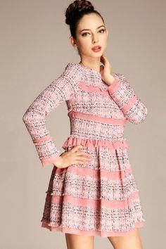 Elegant Ruffled A-line Dress OASAP.com