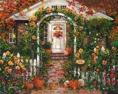 Thanksgiving Autumn Mini-Print Susan Rios by SusanRiosDesigns