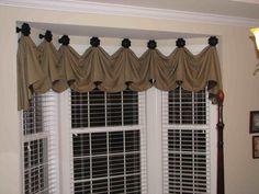 Window Treatment Valance Ideas Tailored | ... Window Valance Ideas Living Room #1 - Bay Window Treatments Valance