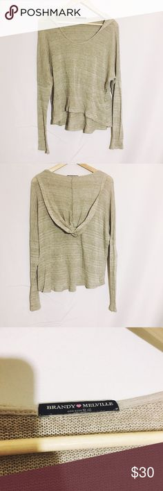 BRANDY MELVILLE taupe tan oversized sweater hoodie Super cute in great condition worn twice Brandy Melville Sweaters