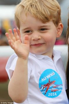 Prince George accompanies Duke and Duchess of Cambridge to Royal International Air Tattoo | Daily Mail Online