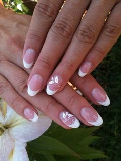 55 Most Stunning Acrylic Oval nails Design and Round Nails Design You Must Try This Year - Design Group 2 Round Nail Designs, Different Nail Designs, French Nail Designs, Round Nails, Oval Nails, My Nails, Shellac Nails, Oval Acrylic Nails, Acrylic Nail Designs