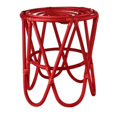 Stool paperclip rattan red sold by pols potten, http://vps18379.public.cloudvps.com.