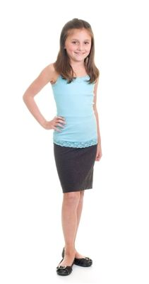 Hard Tail GIRLS Charcoal Pencil Skirt