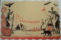 Vintage Halloween Cards | Vintage Holiday Images & Cards: September 2008