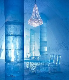 """✶Ice Hotel In SWEDEN. Bosses at a Swedish hotel made out of ice and snow say they are """"a little surprised"""" - after being ordered to install fire alarms✶"""