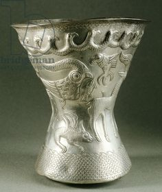 Embossed silver bottom of vase, from Agighiol treasure, Romania, Geto-Dacian Civilization, Century BC Ancient Near East, Ancient Rome, Ancient History, Art History, Collections D'objets, Achaemenid, Ancient Jewelry, Ancient Artifacts, Old Art