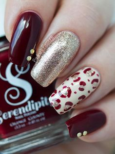 Burgundy Fall Nails by Paulina's Passions