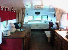 Chelie's Simple Rustic School Bus Conversion 004