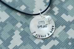 I Raised A Hero  Custom Metal Stamped Pendant by DanaElyse on Etsy Military / Long Distance Relationship / Army / Air Force / Navy / Marines