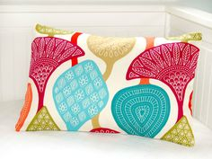 teal pink green red retro style cushion cover  by LittleJoobieBoo, £15.50