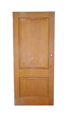 Medium tone quarter sawn oak privacy door with two panels. There are some cracks. Arched Doors, Entry Doors, Antique Interior, Antique Doors, Pocket Doors, Closet Doors, Interior And Exterior, Medium, Antiques
