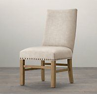 Nailhead Upholstered Side Chair | Fabric Arm & Side Chairs | Restoration Hardware
