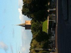 Deze keer vanaf de Energiestraat: de Grote Kerk van Naarden-Vesting.