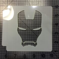 Iron Man Stencil 101  JBCookieCutters.com customizes moldings, cookie cutters, cookie cutter, cutters, cutter, silicone mold, silicone molds, stencil, stencils, baking supplies, baking