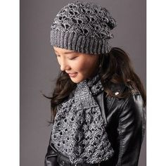 Silver Screen Hat and Scarf crochet & free pattern
