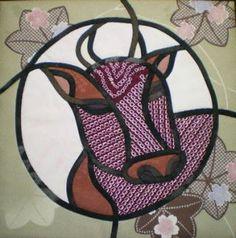 干支ステンドグラスキルト : ミシンキルト工房 草の花