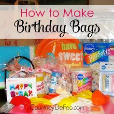 Bless someone less fortunate with a birthday bag! All the supplies you need to have a birthday party. Birthday Bag, Birthday Parties, Happy Birthday, Birthday Ideas, Party Kit, Party Ideas, Gift Ideas, Activities For Kids, Crafts For Kids