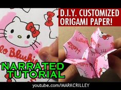 Customized Origami Challenge! How to Fold a Flower - YouTube