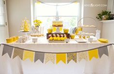 1 yellow grey gray white baby shower bridal wedding shower color scheme colors yellow