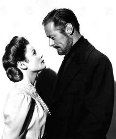 "Gene Tierney, Rex Harrison in ""The Ghost and Mrs Muir"" 1947 directed by Joseph L. Mankiewicz."