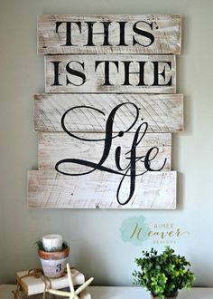 """This is the Life"" wood sign {customizable} - Aimee Weaver Designs"