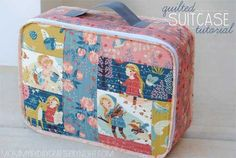 Using an easy Quilt As You Go method, learn how to make this cute fabric suitcase. There are two options for making the bag - sturdy using fusible Peltex s