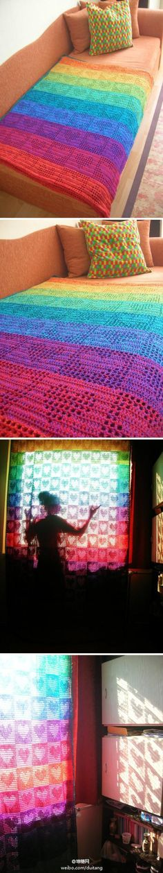 Beautiful crochet blanket