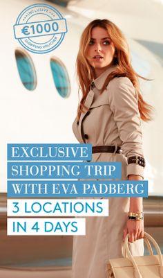Win a VIP shopping trip with Eva Padberg,  €1,000 to spend in Bicester Village, Wertheim Village and Ingolstadt Village