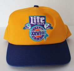Super Bowl XXVIII Cap Hat Miller Lite 1994 Snapback Buffalo Bills Dallas Cowboys #KProducts #DallasCowboys