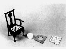 Commode Chair (Chippendale, c. 1745-1755). Complete plans, patterns, and instructions from Helen Dorsett. In The Scale Cabinetmaker, Volume 5:3. Issue available as a pdf download from dpllconline.com.