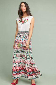 Aldomartins Elma Embroidered Maxi Dress #affiliatelink