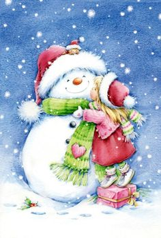 a kiss for Frosty Christmas Scenes, Christmas Pictures, Christmas Snowman, All Things Christmas, Christmas Holidays, Christmas Crafts, Merry Christmas, Christmas Decorations, Christmas Clipart