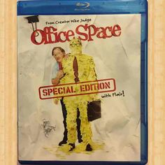Office Space (Special Edition with Flair!) [Blu-ray]: A self-serving boss, petty annoyances and unbroken monotony dishearten a computer programmer and his co-workers. Written and directed by Mike Judge. Blu Ray Collection, Movie Collection, Movies For Sale, Great Movies, Office Space Movie, Ron Livingston, Mike Judge, Blu Ray Movies