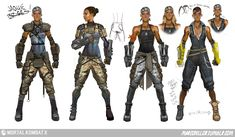 View an image titled 'Jacqui Briggs Concept Art' in our Mortal Kombat X art gallery featuring official character designs, concept art, and promo pictures. Character Model Sheet, Game Character Design, Character Modeling, Character Design Inspiration, Character Concept, Character Art, Concept Art World, Game Concept Art, Concept Ships