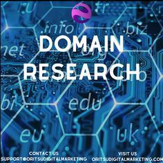Domain Research - Oritsu Digital Marketing Because The Internet, Unique Names, Digital Marketing Services, Scientists, Research, Numbers, Logo Design, Neon Signs, Social Media
