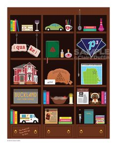 Charmed Bookcase Art Print Charmed TV Show by OperationPumpkin