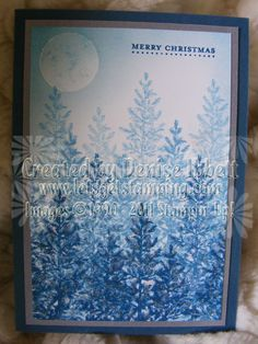 Lovely as a Tree Christmas Card, Stampin' up! www.deniseibbett.stampinup.net