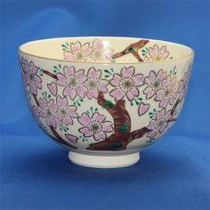Matcha bowl Takashiyama-saku Hitokiyo old cherry bowl cosmetic box of 12.3xH8cm weight : 200g tea tea ceremony Gift *** Click on the image for additional details.