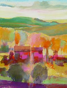 """""""My Neighbor's House #818"""" - Abstract Landscape Art by Mark Gould"""