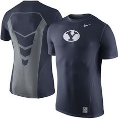 a81e7a7c4ca525 BYU Cougars Nike Sideline Hypercool 3.0 Fitted Dri-FIT Top - Navy