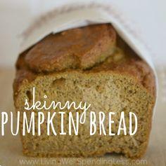 Skinny Pumpkin Bread from Living Well Spending Less
