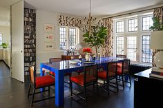 colorful eclectic dining room by Molly Luetkemeyer
