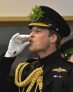 Prince William attends a St Patrick's Day parade on St Patrick's Day on March 17, 2013, in Aldershot, England.