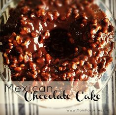 Chocolate Cake Recipe - Mom Favorites Mexican Chocolate Cake Recipe: My kids ADORED this recipe!Mexican Chocolate Cake Recipe: My kids ADORED this recipe! Mexican Chocolate Cakes, Chocolate Recipes, Cake Chocolate, Mexican Dishes, Mexican Food Recipes, Mexican Desserts, Cake Recipes, Dessert Recipes, Drink Recipes